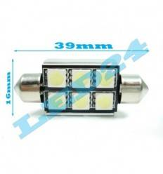 LED C5W C10W Festoon (Sofit) 6 SMD 5050 CANBUS 39mm