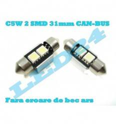 LED c5w Festoon (Sofit) 2 SMD 31mm 5050 CANBUS cu radiator