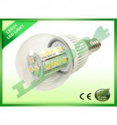 BEC ECONOMIC E14 ROTUND 27 LED-URI SMD 5050, 3.5W, ALB CALD 3000k