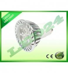 BEC ECONOMIC SPOT GU10 CU 3 LED-URI HIGH POWER, 3W ALB CALD 3000k