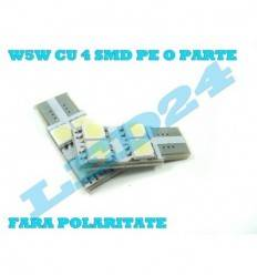LED T10 cu 4 SMD 5050 CANBUS