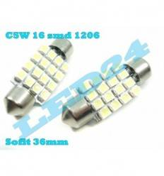 LED C5W SOFIT FESTOON 16 SMD 36mm