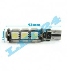 LED W5W T10 cu 13 SMD 5050 CANBUS
