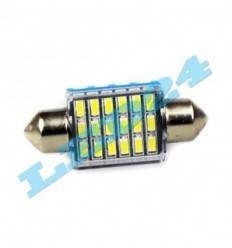 Bec led C5W cu 18 SMD 3014 Can-Bus