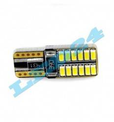 Bec led w5w cu 24 SMD 4014 CAN-BUS