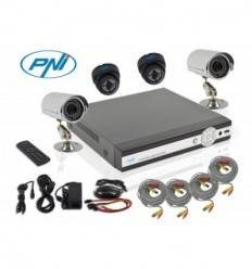 DVR kit supraveghere video PNI House PTZ01 - DVR si 4 camere (2 de interior si 2 de exterior)