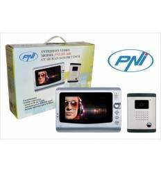 Interfon video cu 1 monitor model PNI DF-926 cu ecran LCD de 7 inch