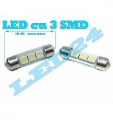LED C5W Sofit Festoon cu 3 smd