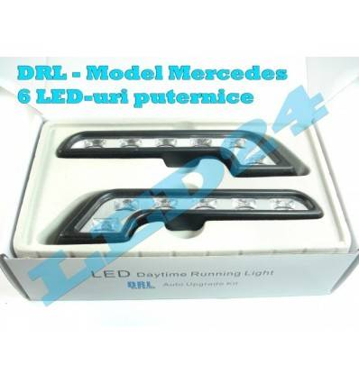 DRL cu 6 LED-uri, model Mercedes