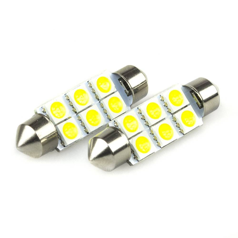 LED C5W cu 6 SMD Festoon (Sofit) 5050 41mm
