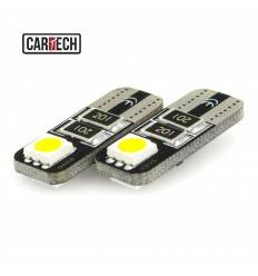 Bec led w5w cu 2 SMD 5050 Can-Bus