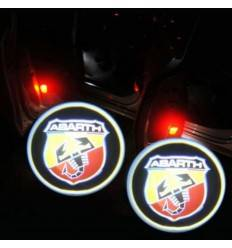 Kit proiectoare logo, montare sub usa 5W ABARTH