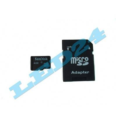 CARD MICRO SD SANDISK 4GB CLASA 4 + ADAPTOR SD
