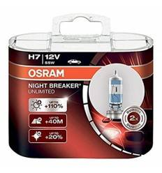 Set becuri H7 Night Breaker Unlimited 110% Osram