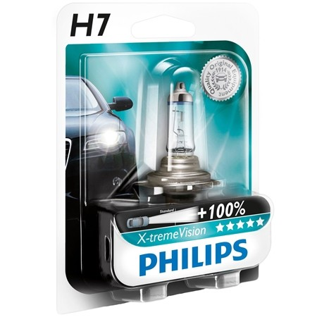 Set becuri H7 X-treme Vision 130% Philips