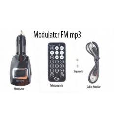 Modulator FM/Mp3 Premium cu telecomanda, display LCD, USB