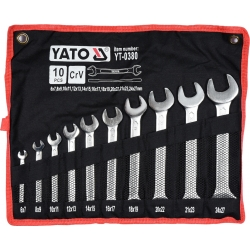 Set 10 chei fixe 6 - 27 mm Yato YT-0380