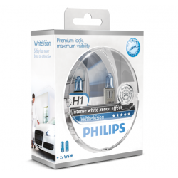 Set becuri H1 White Vision Philips 12258WHVSM