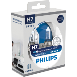 Set becuri H7 White Vision Philips 12972WHVSM