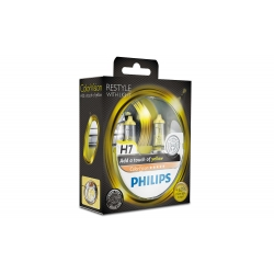 Set becuri H4 Philips Color Vision Yellow 12342CVPYS2