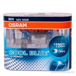 Set becuri H1 Cool Blue Intense Osram 64150CBI-HCB