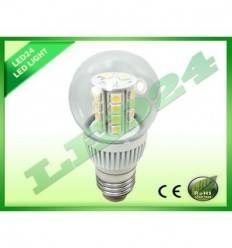 BEC ECONOMIC  E27 ROTUND 27 LED-URI, 3.5w SMD 5050 ALB CALD 3000k