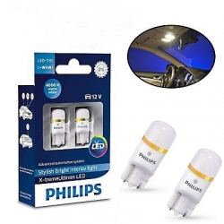Set Becuri LED w5w Philips Xtreme Ultinon 127994000KX2