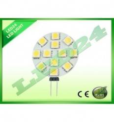 BEC ECONOMIC G4 12 LED-URI SMD, 2.4w, 5050 ALB CALD 3000k